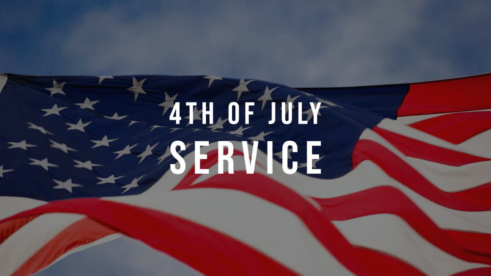 4th of July Service Image
